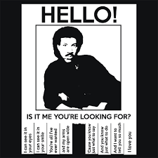 Hello Is It Me You Re Looking For Meme - hello is it me you re looking for lionel richie t shirt funny