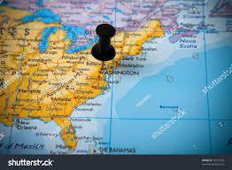 map usa bermuda small pin pointing on washington usa stock photo 18377299