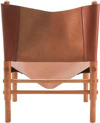 furniture enchanting leather sling chairs and natural beige