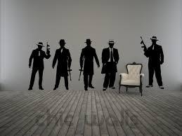 Scarface Home Decor 5 Gangsters Al Capone Mobster Mafia Wall Decor Decal Sticker
