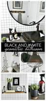 Black And White Wallpaper For Bathrooms - black and white geometric bathroom taryn whiteaker
