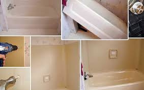 How To Replace A Bathtub Bathroom Bathroom Tub Replacement Perfect On Intended How To