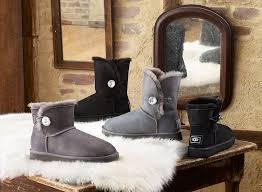 womens boots australian sheepskin ugg australia s sheepskin boot with a bling button for the