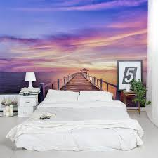 Master Bedroom Ideas With Wallpaper Accent Wall Create Gorgeous Accent Walls With This Thailand Pier Sunset Wall