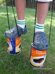 coffee can stilts old summer fun teach mama