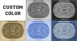 united center floor plan vintage print of united center seating chart on premium photo