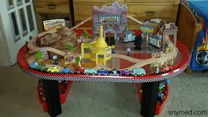 review disney cars radiator springs race track set u0026 table by