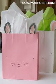 easter bags diy bunny easter bags project nursery