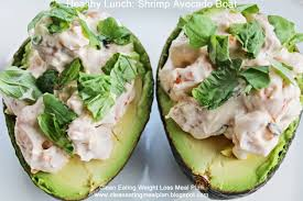 healthy lunch shrimp avocado boat clean eating meal plan easy