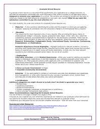 graduate application resume sample best resume collection