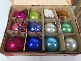 various vintage glass christmas ornaments ever brite and corning
