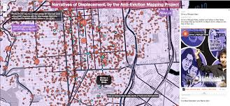 san francisco eviction map anti eviction mapping project visualizing dispossession in the
