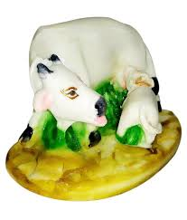 bhavika marble cow with calf home decor buy bhavika marble cow