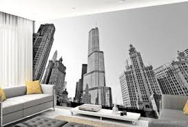 high quality customize size modern black and white new york see larger image