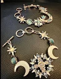 bracelet luxury crystal images Luxury crystal gem opal enamel sun moon star charms bracelet gold jpg