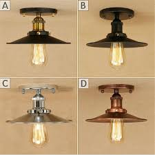 Rustic Ceiling Light Fixture Nordic Style Black Chrome Ceiling Lights With E27 Socket Adapter