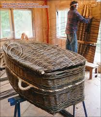 wicker casket green burial eco funeral organic hemp willow coffins caskets