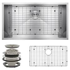 X Kitchen Sink - akdy handcrafted all in one undermount stainless steel 32 in x 18