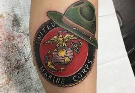 united states marine corps calf tattoo veteran ink