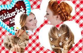 Dirndl Frisuren Mittellange Haare Anleitung by Fesche Wiesn Frisuren By Erklärt Gofeminin