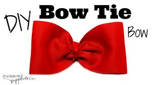 large ribbon bow tie hair bow tutorial large bow tie bow with 3 inch ribbon