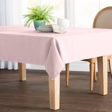 pale pink table cover pale pink tablecloth wayfair