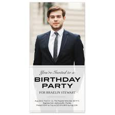 Personalized Birthday Invitation Cards Transparent 4x8 Birthday Invitation Card