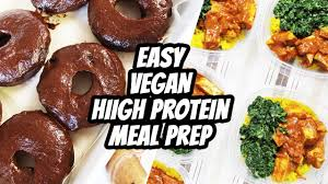 kitchen in a day high protein vegan meal prep what i eat in a day 86 mary u0027s
