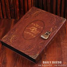 photo album sets 10 inch diy vintage handmade lock photo album with copper password