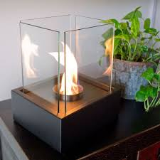 view in gallery nu flame lampada tabletop fireplace
