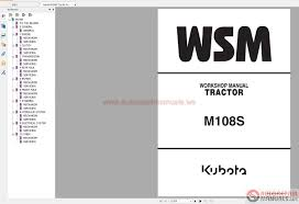 kubota m108s tractor workshop service repair manual auto repair