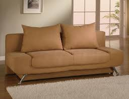 brown microfiber sofa bed armless brown microfiber sofa bed with storage compartment 649 00