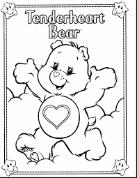 superb printable care bear coloring pages for kids with care bear