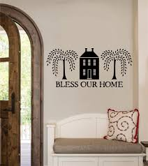bless our home vinyl decal wall stickers letters words primitive
