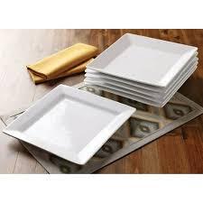 better homes and gardens square dinner plates white set of 6