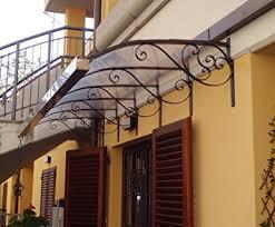 tettoia in ferro battuto pensilina tettoia acciaio inox ferro battuto realizzazioni