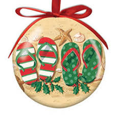 flip flops ornaments coastal products by region cape shore