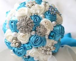 blue wedding bouquets blue bridal bouquet etsy