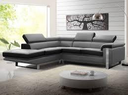 canapé d angle noir et gris canapé d angle en cuir de vachette 4 coloris mystique