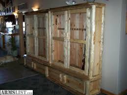 Pine Gun Cabinet Armslist For Sale Solid Blue Pine Gun Cabinets