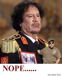 Gaddafi Meme - i bet you thought gaddafi was alive nope just chuck testa