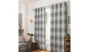 Checkered Curtains by Grey Check Curtains W 66 X D 54 Inch Home U0026 Garden George