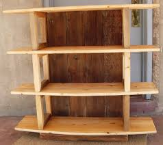 Wood Bookshelves Design by Bookcase Shelf Supports With Simple Rustic Wooden Bookshelves With