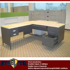 Large L Desk Iron Wood Combination Larger L Type Computer Desk Boss Modern L