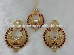 trendy gold earrings muchmore traditional trendy gold tone polki earrings with