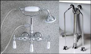 Clawfoot Tub Faucet With Shower Chrome Clawfoot Tub Faucet With Handshower Drain Supply Lines