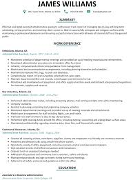 Resume Template For Administrative Position Cover Letter Construction Administrative Assistant Resume