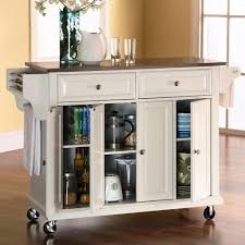 amusing stainless steel movable kitchen island images decoration