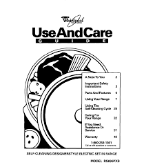 whirlpool range rs696pxb user guide manualsonline com
