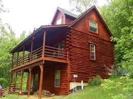 Two Story Log Homes by Property From Rush Creek Realty